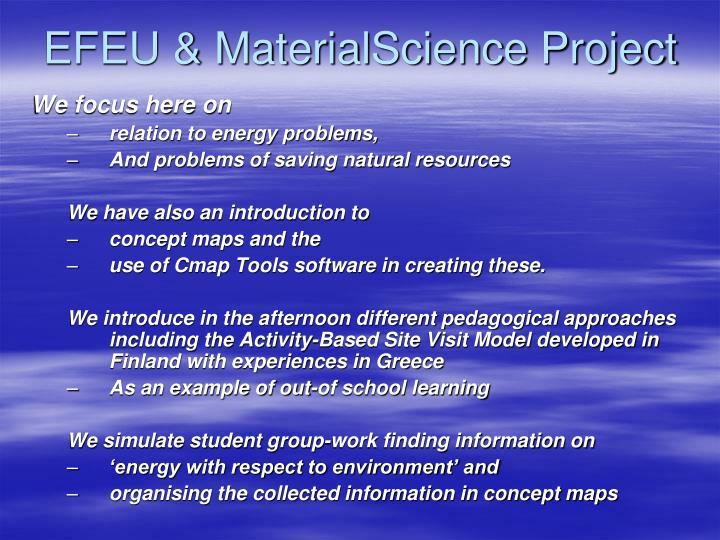 EFEU & MaterialScience Project