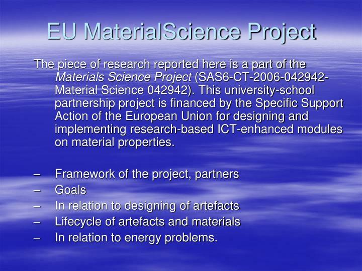 EU MaterialScience Project