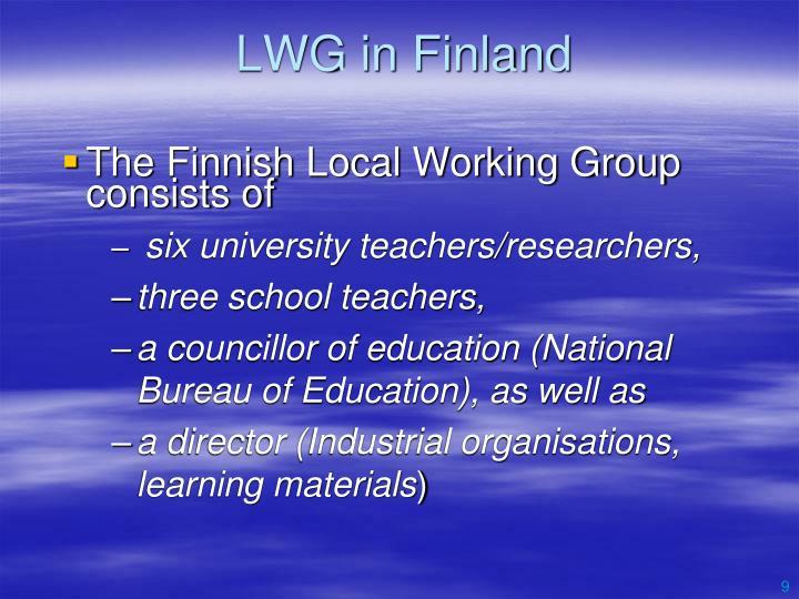 LWG in Finland