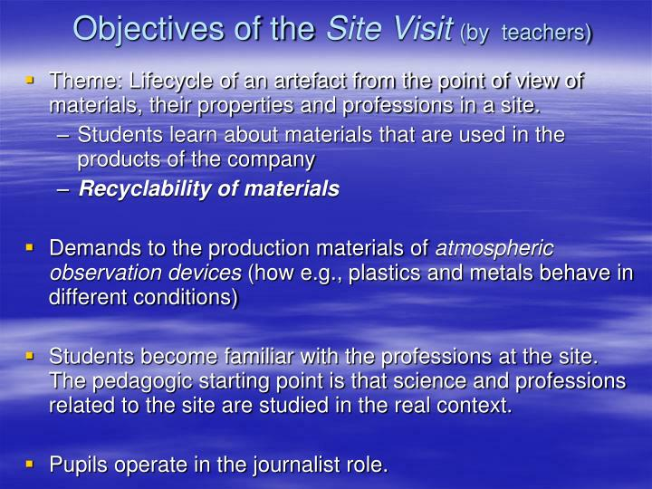 Objectives of the