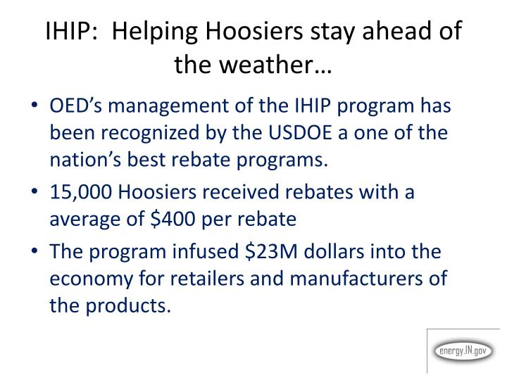 IHIP:  Helping Hoosiers stay ahead of the weather…
