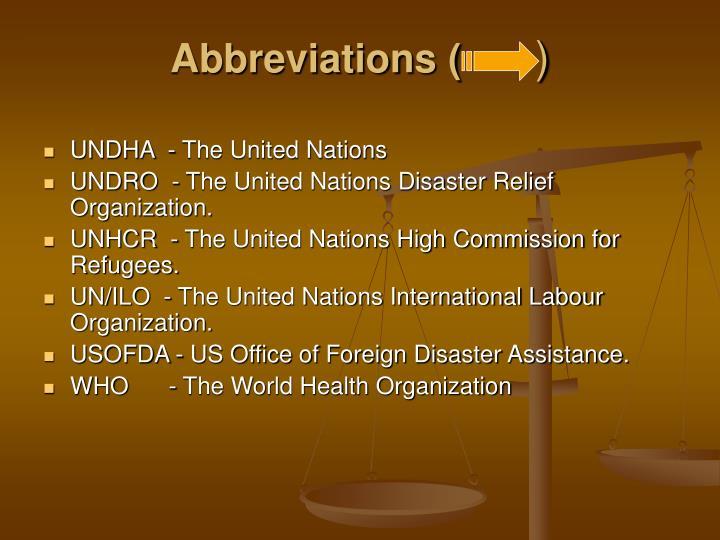 Abbreviations (