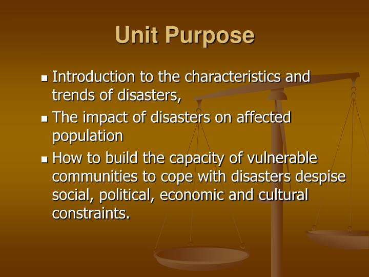 Unit Purpose