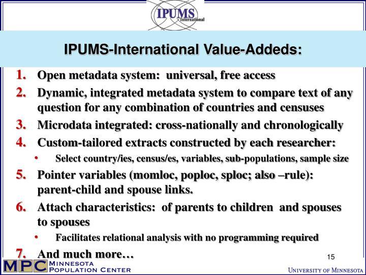 IPUMS-International Value-