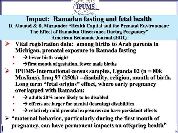 Impact:  Ramadan fasting and fetal health