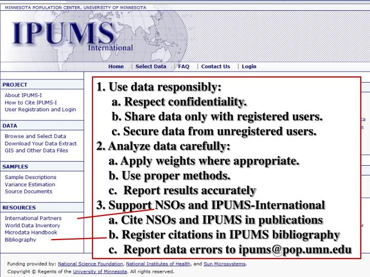 1. Use data responsibly: