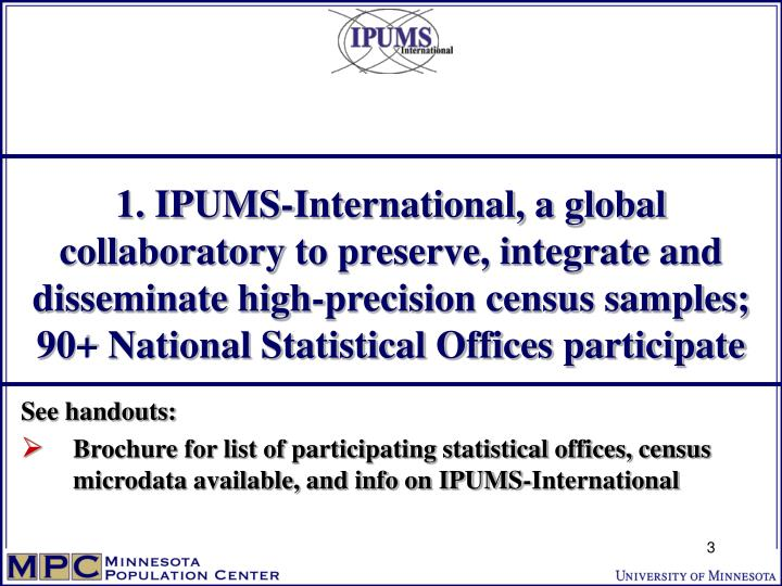 1. IPUMS-International, a global