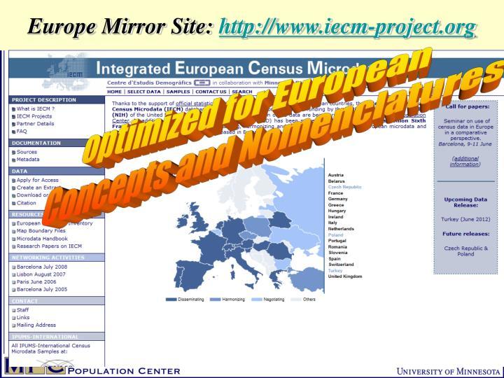 Europe Mirror Site: