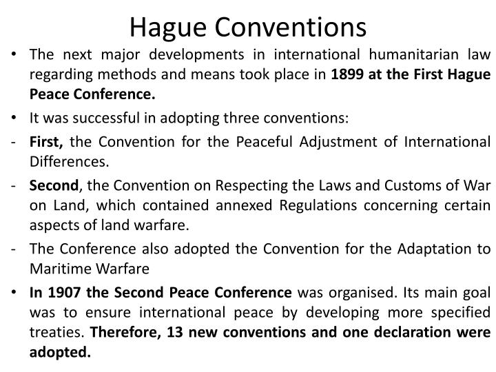 Hague Conventions