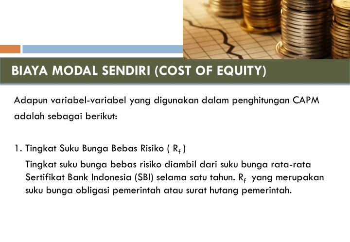 BIAYA MODAL SENDIRI (COST OF EQUITY)