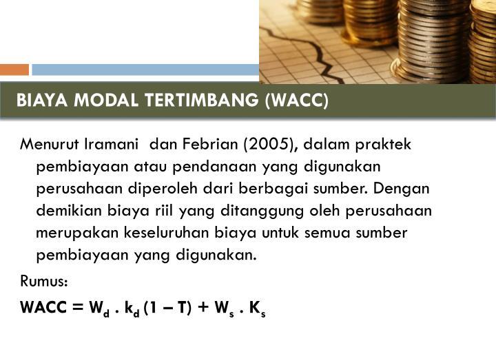 BIAYA MODAL TERTIMBANG (WACC)