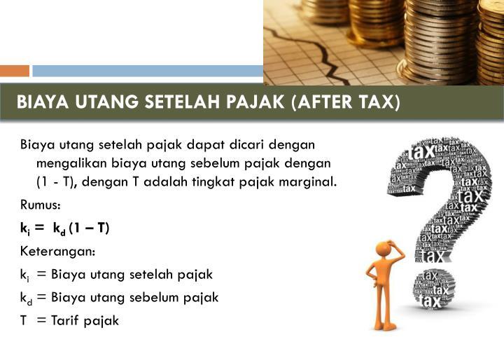 BIAYA UTANG SETELAH PAJAK (AFTER TAX)