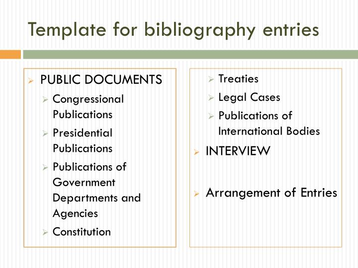 Template for bibliography entries1