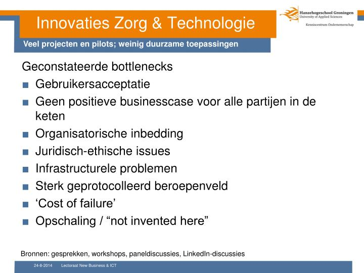 Innovaties Zorg & Technologie