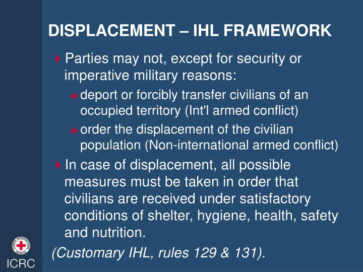 DISPLACEMENT – IHL FRAMEWORK