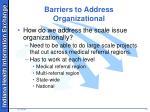 barriers to address organizational