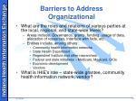 barriers to address organizational1