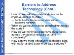 barriers to address technology cont
