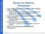 barriers to address technology