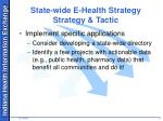 state wide e health strategy strategy tactic