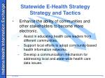 statewide e health strategy strategy and tactics1