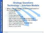 strategy questions technology interface models