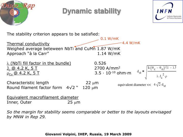 equivalent diameter <<