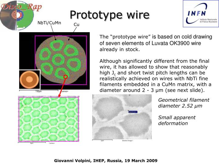 Prototype wire