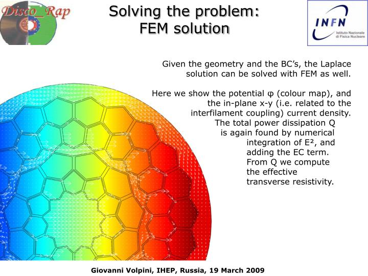 Solving the problem: