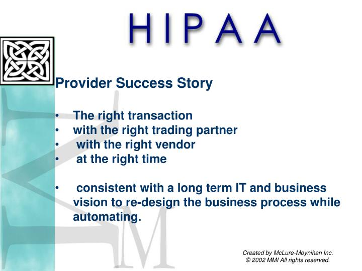Provider Success Story