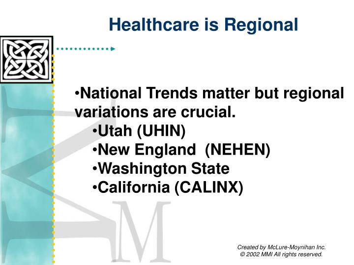 Healthcare is Regional