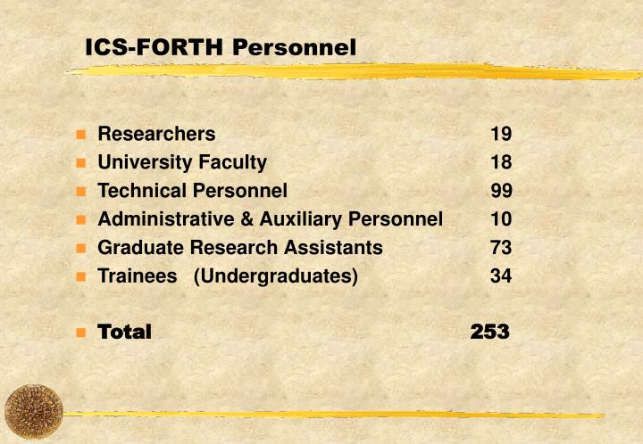 Ics forth personnel