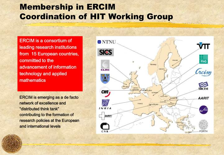 Membership in ERCIM