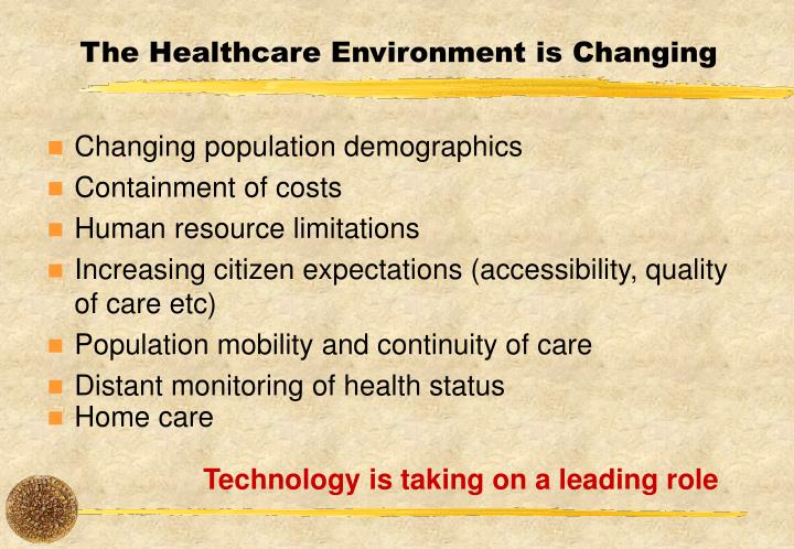 The Healthcare Environment is Changing