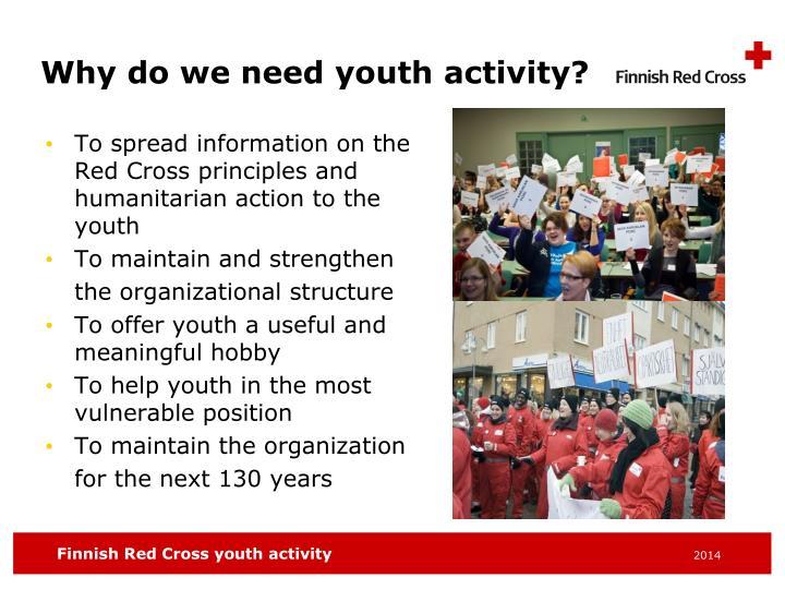 Why do we need youth activity?