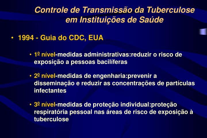 Controle de Transmissão da Tuberculose
