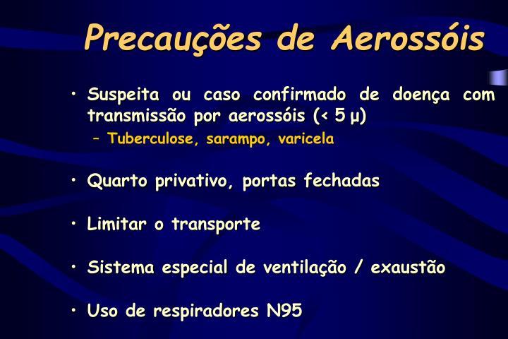 Precauções de Aerossóis