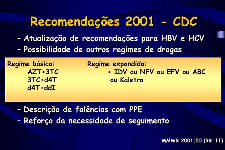 Recomendações 2001 - CDC