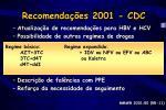 recomenda es 2001 cdc
