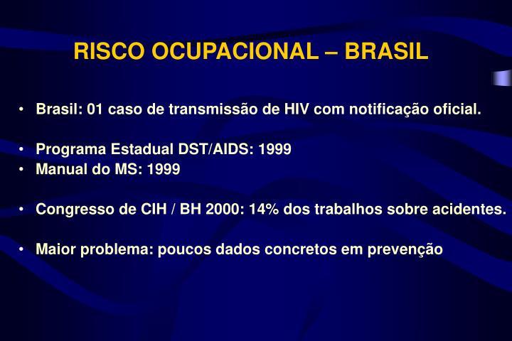 RISCO OCUPACIONAL – BRASIL