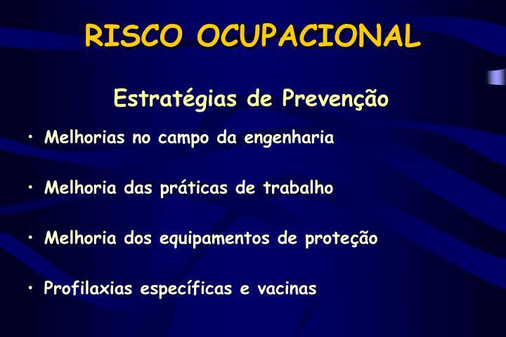RISCO OCUPACIONAL