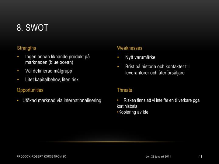 8. SWOT