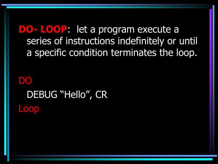 DO- LOOP