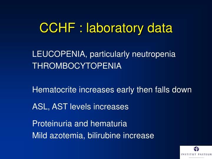 CCHF : laboratory data