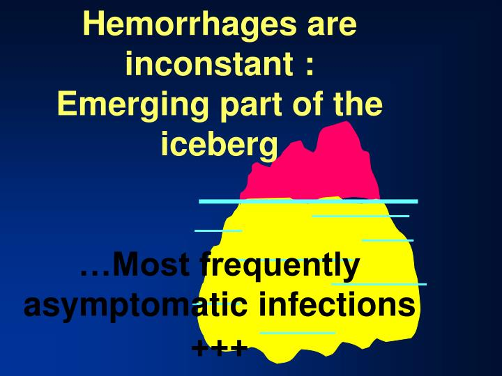 Hemorrhages are inconstant :