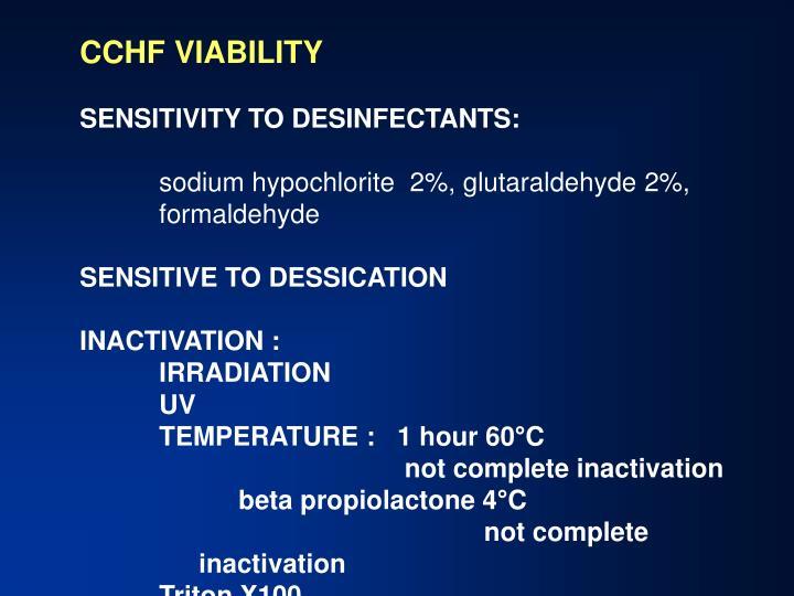 CCHF VIABILITY