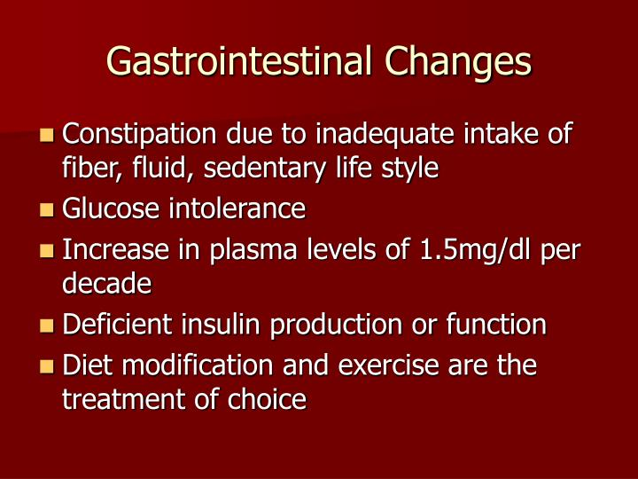 Gastrointestinal Changes