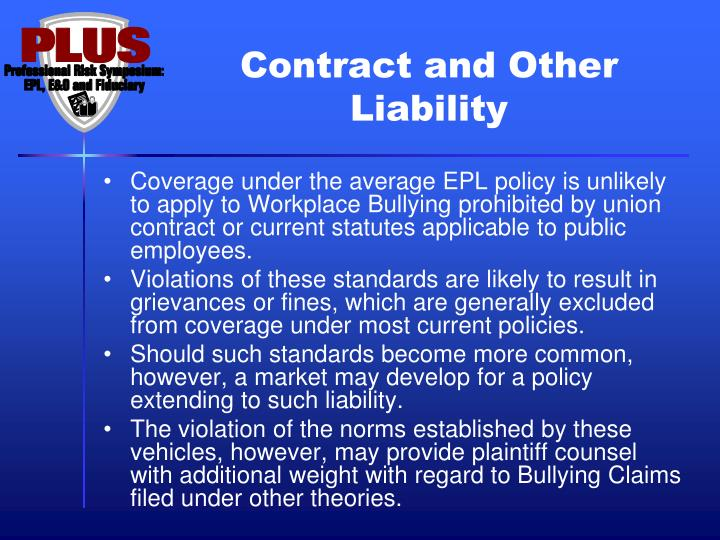 Contract and Other Liability
