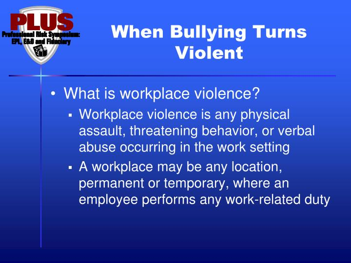 When Bullying Turns Violent