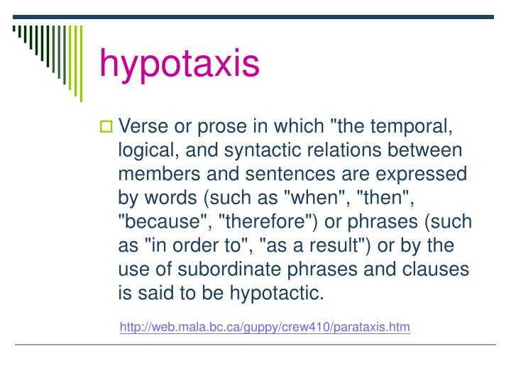 hypotaxis